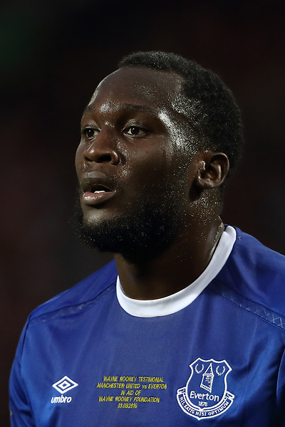 LIVERPOOL, ENGLAND - AUGUST 06:  Romelu Lukaku of Everton in action during the pre-season friendly match between Everton and Espanyol at Goodison Park on August 6, 2016 in Liverpool, England.  (Photo by Jan Kruger/Getty Images)