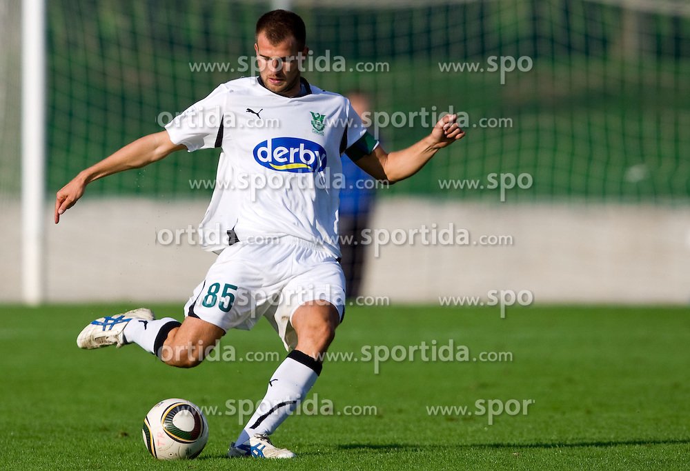 Dalibor Radujko of Olimpija during the football match between NK Triglav Gorenjska and NK Olimpija, played in the 9th Round of Prva liga football league 2010 - 2011, on September 19, 2010, Mestni stadion, Kranj, Slovenia. Olimpija defeated Triglav 5 - 0. (Photo by Vid Ponikvar / Sportida)