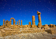 Soleb, Sudan, the Big Soleb Temple, discovered in 1844. Once night falls, the full moon's light makes the site seem unreal and magical.