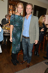 LADY GABRIELLA WINDSOR and TOM KINGSTON at a private view of the Beulah Winter Autumn Winter collection entitled 'Chrysalis' held at The South Kensington Club, London SW7 on 24th September 2015.