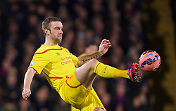 LONDON, ENGLAND - Saturday, February 14, 2015: Liverpool's Rickie Lambert in action against Crystal Palace during the FA Cup 5th Round match at Selhurst Park. (Pic by David Rawcliffe/Propaganda)