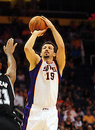 Nov. 3 2010; Phoenix, AZ, USA; Phoenix Suns forward Hedo (19) puts up a basket during the first half against the San Antonio Spurs at the US Airways Center. The Spurs defeated the Suns 112-110.   Mandatory Credit: Jennifer Stewart-US PRESSWIRE.