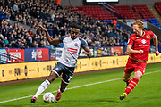 Joe Dodoo of Bolton Wanderers during the EFL Sky Bet League 1 match between Bolton Wanderers and Milton Keynes Dons at the University of  Bolton Stadium, Bolton, England on 16 November 2019.