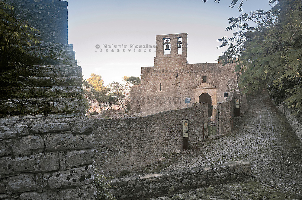 Erice: chiesa di Sant'Orsola.<br /> Erice: Sant' Orsola church