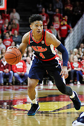 NORMAL, IL - December 08: Breein Tyree during a college basketball game between the ISU Redbirds and the University of Mississippi (Ole Miss) Rebels on December 08 2018 at Redbird Arena in Normal, IL. (Photo by Alan Look)