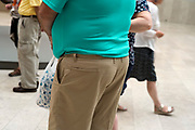 close up of an obese man