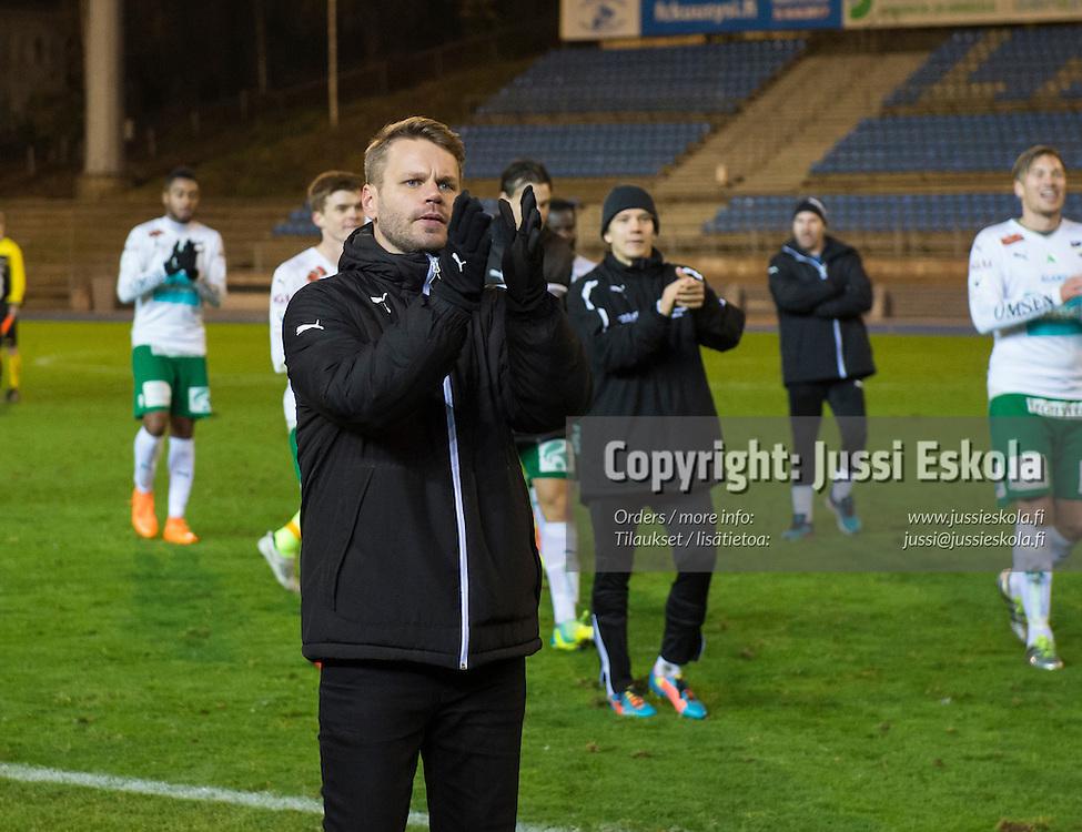 Peter Lundberg. FC Lahti - IFK Mariehamn. Veikkausliiga. Lahti 17.10.2016. Photo: Jussi Eskola