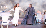 Three Sisters <br /> by Anton Chekhov<br /> Sovremennik Theatre <br /> at Piccadilly Theatre, London, Great Britain <br /> Press photocall / rehearsal <br /> 11th May 2017 <br /> Victoria Romanenko as Irina <br /> Olga Drozdova as Olga <br /> <br /> <br /> <br /> <br /> <br /> <br /> <br /> <br /> Photograph by Elliott Franks <br /> Image licensed to Elliott Franks Photography Services