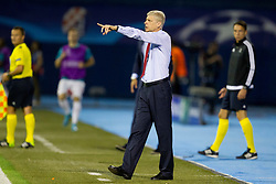 Arsene Wenger, head coach of Arsenal F.C. during football match between GNK Dinamo Zagreb, CRO and Arsenal FC, ENG in Group F of Group Stage of UEFA Champions League 2015/16, on September 16, 2015 in Stadium Maksimir, Zagreb, Croatia. Photo by Urban Urbanc / Sportida