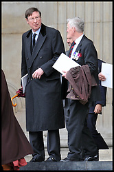 Max Hastings attends Lady Thatcher's funeral at St Paul's Cathedral following her death last week, London, UK, Wednesday 17 April, 2013, Photo by: Andrew Parsons / i-Images