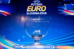 The UEFA Futsal EURO 2018 finals draw, on September 29, 2017 in Ljubljanski grad, Ljubljana, Slovenia. Photo by Vid Ponikvar / Sportida