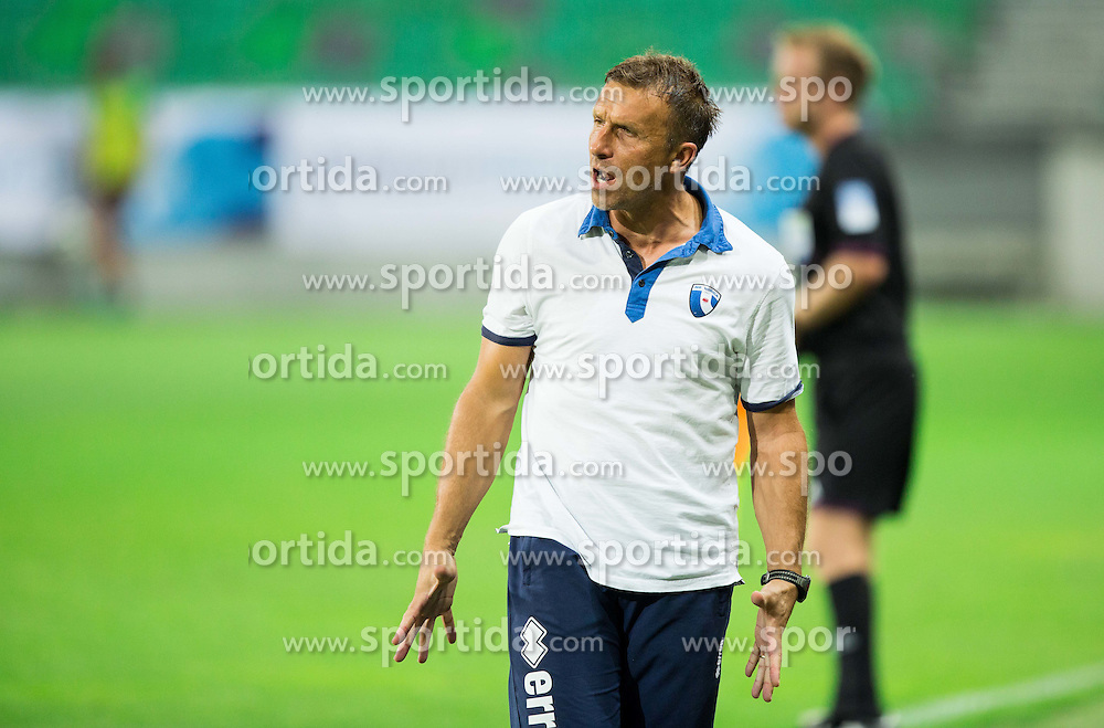 Miran Srebrnic, head coach of Gorica during football match between NK Olimpija Ljubljana and ND Gorica in 1st Round of Prva liga Telekom Slovenije 2015/16, on July 18, 2015 in SRC Stozice, Ljubljana, Slovenia. Photo by Vid Ponikvar / Sportida