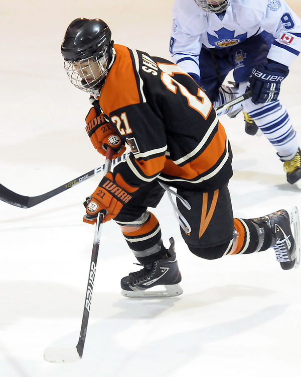 Howard Shim of the Don Mills Flyers.  Photo by Aaron Bell/OHL Images
