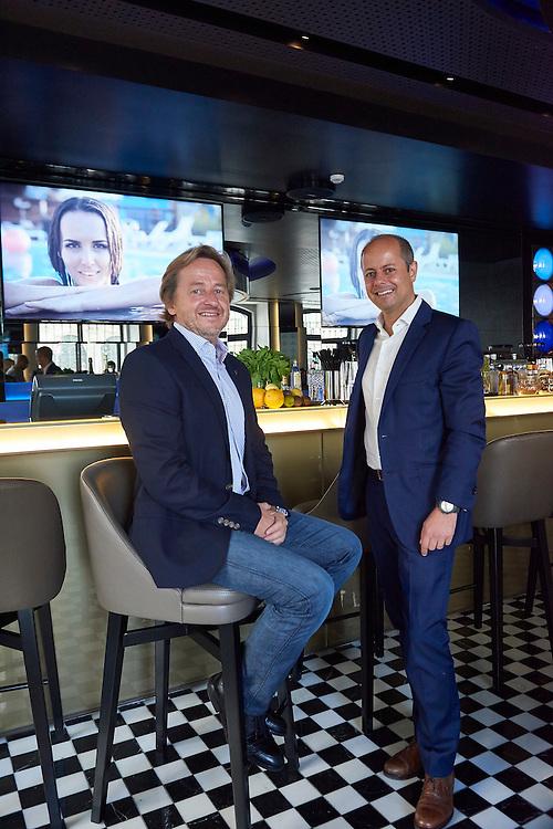 Lisboa, 11/08/2016 - Jos&eacute; Roquette (sentado) e Nuno Ferreira Pires, administradores do grupo hoteleiro Pestana.<br /> Aspectos do novo Hotel CR7 a ser inaugurado na baixa pombalina.(Paulo Alexandrino / Global Imagens)