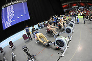 Birmingham, Great Britain,   General view of the front row in the J18 men's race at  the British Indoor Rowing Championships, National Indoor Arena, NIA, Sun, 22.11.2009  [Mandatory Credit. Peter Spurrier/Intersport Images]