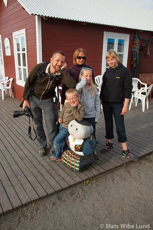 Christopher og fjölskylda í Hrísey /  Christopher and his family vacationing.   ( Hrisey now belongs to Akureyri ).