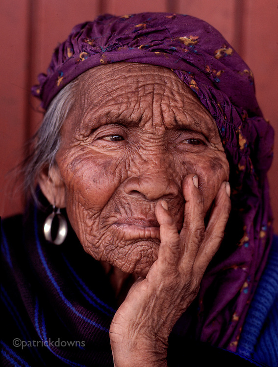 Village woman in Ahuiran, Michoacan state, Mexico