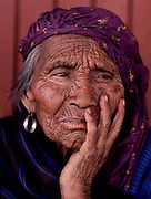 Village woman in Ahuiran, Michoacan state, Mexico