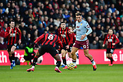 Jack Grealish (10) of Aston Villa on the attack during the Premier League match between Bournemouth and Aston Villa at the Vitality Stadium, Bournemouth, England on 1 February 2020.