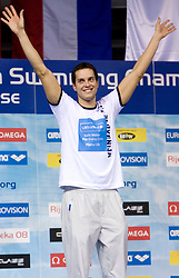 Swimmer Matjaz Markic, European Champion in 50m Men`s Breaststroke, at 3rd day of LEN European Short Course Swimming Championships Rijeka 2008, on December 13, 2008,  in Kantrida pool, Rijeka, Croatia
