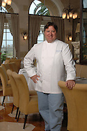 A portrait of celebrity chef Norman Van Aken at his Norman's restaurant at the Ritz-Carlton hotel in Orlando, Florida.