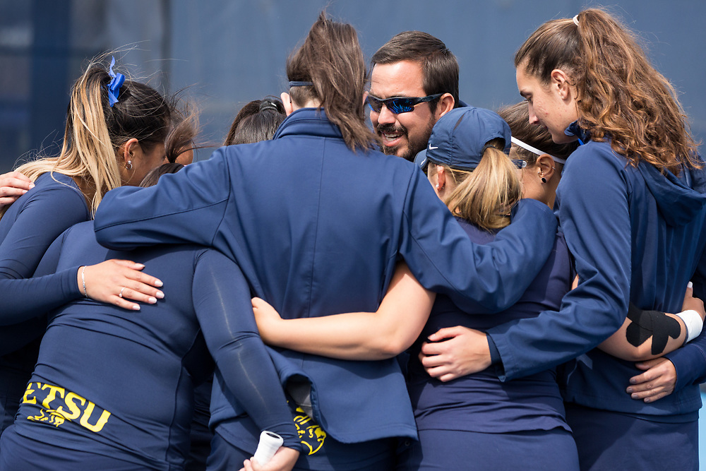 April 6, 2018 - Johnson City, Tennessee - Dave Mullins Tennis Complex: ETSU head coach Ricardo Rojas<br /> <br /> Image Credit: Dakota Hamilton/ETSU