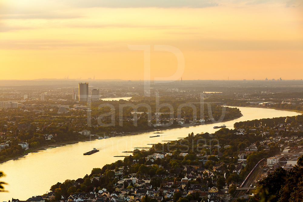 View of Bonn and surronding from the Drachenfels, Siebengebirge near Bonn, Germany