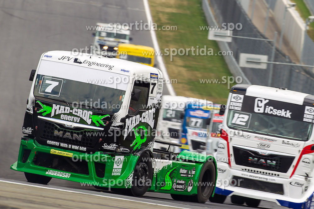 07.07.2013, Red Bull Ring, Spielberg, AUT, Truck Race Trophy, Renntag 2, im Bild Mika Maekinen, (FIN, Mika Maekinen, #7), Benedek Major, (Oxxo Energy Truck Race Team, #12), Rene Steinert, (GER, Rene Reichert, #77), Frank Vojtisek, (CZE, Frankie Truck Racing Team, #21) // during the Truck Race Trophy 2013 at the Red Bull Ring in Spielberg, Austria, 2013/07/07, EXPA Pictures © 2013, PhotoCredit: EXPA/ M.Kuhnke