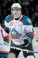 KELOWNA, CANADA, JANUARY 25: Carter Rigby #11 of the Kelowna Rockets skates on the ice as the Kamloops Blazers visit the Kelowna Rockets on January 25, 2012 at Prospera Place in Kelowna, British Columbia, Canada (Photo by Marissa Baecker/Getty Images) *** Local Caption ***