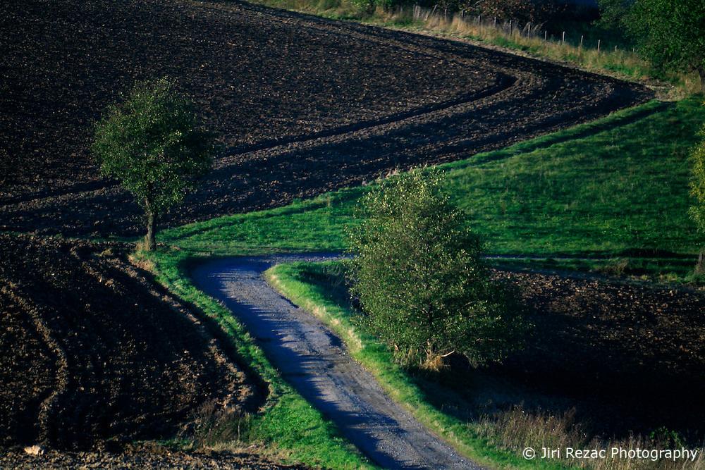 CZECH REPUBLIC VYSOCINA 16OCT11 - Country road near Trpin, Vysocina, Czech Republic.....jre/Photo by Jiri Rezac....© Jiri Rezac 2011