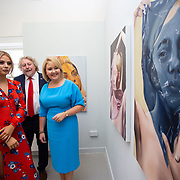 "03.06.2018.        <br /> An In-FLUX of visitors attended LSAD, Limerick School of Art and Design for one of Ireland's largest and most vibrant Graduate Shows.<br /> <br /> Pictured at the event were, Gemma Cowen, a painting graduate, Mike Fitzpatrick Dean, Limerick School of Art & Design and Director Cultural Engagement and Chief Executive of the Design & Crafts Council of Ireland, Karen Hennessy who officially opened the Flux Exhibition.<br /> <br /> More than 200 Fine Art and Design students' work went on display from June 2 to June 10, 2018 at the LSAD Graduate Show - FLUX.<br /> LSAD has been central to Art, Craft and Design in the Limerick and Midwest region since 1852.<br />  <br /> The concept, branding and overall design of the 2018 LSAD Graduate Show - FLUX – is student led, and begins this Saturday June 2 and runs until June 10, 2018.<br />  <br /> FLUX encapsulates the movement and change from student to graduate. ""The ""X"" in ""FLUX"" represents the students and how they have made their mark in their time at college,"" explains designers Cathy Hogan and Will Harte as they outline the thinking behind the concept.<br />  <br /> FLUX describes the dynamic movement in the Limerick city region as it overcomes significant issues to become a fulcrum of rejuvenation, vibrant culture, strong industry growth and a centre of design.<br />  <br /> LSAD is also in a state of FLUX as it develops its enterprise potential and engagement with stakeholders across industry, public bodies, third level institutions and other partners overseeing a shift towards design, creativity and connectivity that goes far beyond the walls of its main campus on Clare Street. Picture: Alan Place"