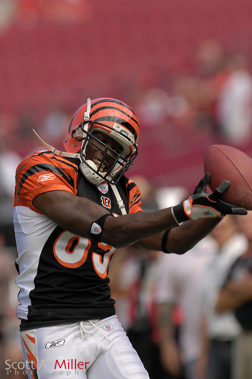 Oct. 15, 2006; Tampa, FL, USA; Cincinnati Bengals (85) receiver Chad Johnson during warmups prior to the Bengals game with the Tampa Bay Buccaneers at Raymond James Stadium. ...©2006 Scott A. Miller