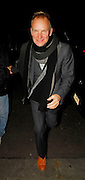 14.DECEMBER.2007. LONDON<br /> <br /> STING AND TRUDIE STYLER ARRIVING AND LEAVING MATTHEW FREUD'S CHRISTMAS PARTY WHO IS MARRIED TO RUPERT MURDOCH'S DAUGHTER ELIZABETH IN WEST LONDON.<br /> <br /> BYLINE: EDBIMAGEARCHIVE.CO.UK<br /> <br /> *THIS IMAGE IS STRICTLY FOR UK NEWSPAPERS AND MAGAZINES ONLY*<br /> *FOR WORLD WIDE SALES AND WEB USE PLEASE CONTACT EDBIMAGEARCHIVE - 0208 954 5968*