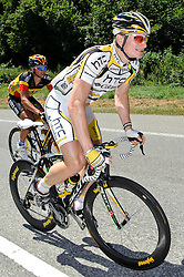 09.07.2010, AUT, 62. Österreich Rundfahrt, 6. Etappe, Deutschlandsberg-Laxenburg, im Bild v.l. Stijn Devolder (BEL, Quick Step), Andre Greipel (GER, Team HTC Columbia), EXPA Pictures © 2010, PhotoCredit: EXPA/ S. Zangrando / SPORTIDA PHOTO AGENCY