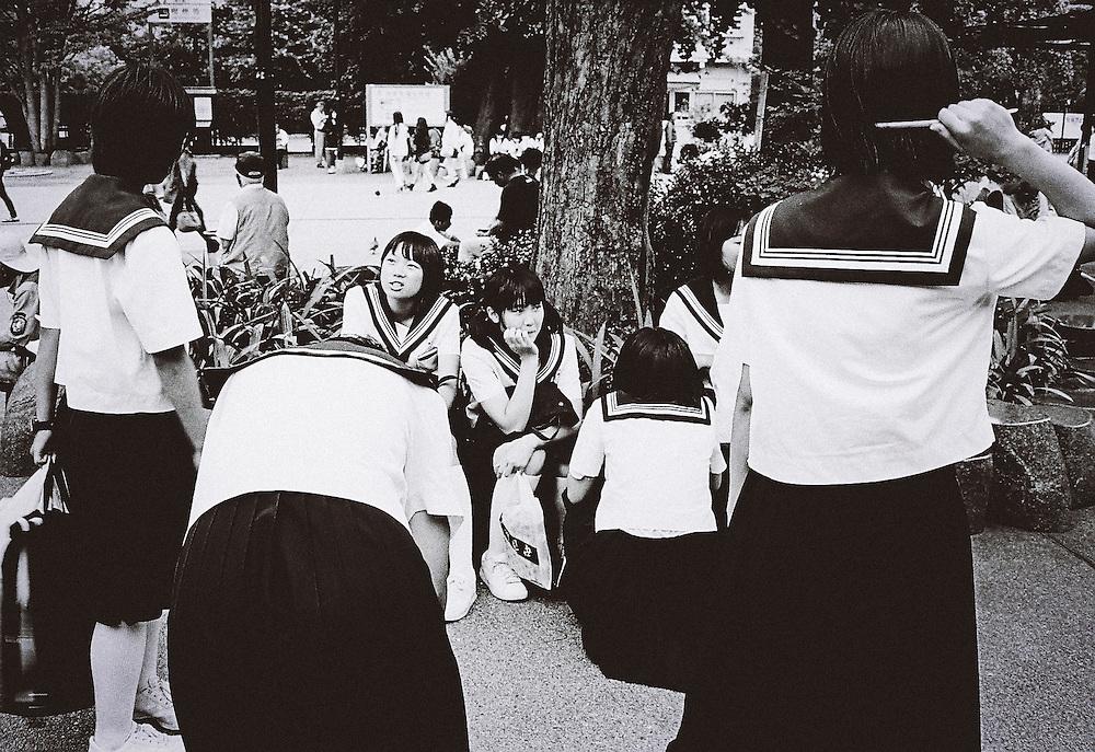 Tokyo, Japan - 2013 :  Japanese high school students Asakusa, Tokyo sometime in 2013.<br /> <br /> Photo: Richard Atrero de Guzman