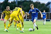 Jack Clarke (47) of Leeds United on the attack during the Pre-Season Friendly match between Oxford United and Leeds United at the Kassam Stadium, Oxford, England on 24 July 2018. Picture by Graham Hunt.