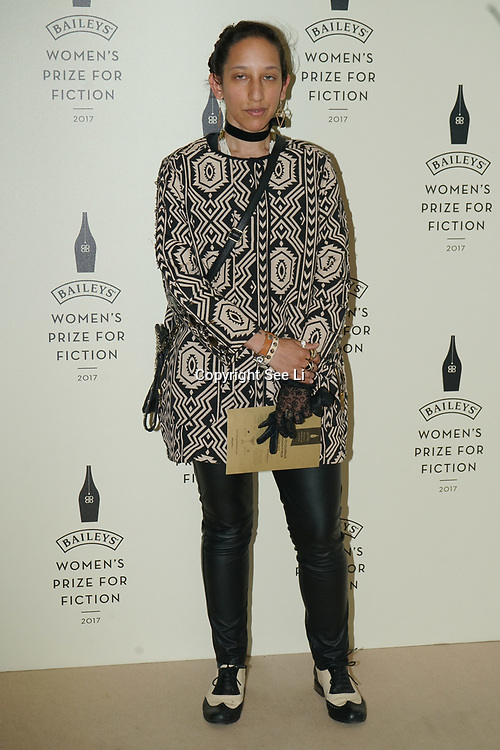 London,UK. 7th June 2017. Bidisha attends a photocall The Baileys Prize for Women's Fiction Awards 2017 at the The Royal Festival Hall, Southbank Centre. by See Li