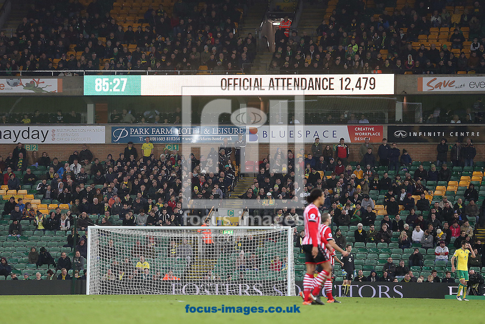A half empty Carrow Road watches the action during the third round of the FA Cup at Carrow Road, Norwich<br /> Picture by Paul Chesterton/Focus Images Ltd +44 7904 640267<br /> 07/01/2017