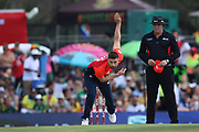 Mark Wood during the International T20 match between South Africa and England at Supersport Park, Centurion, South Africa on 16 February 2020.