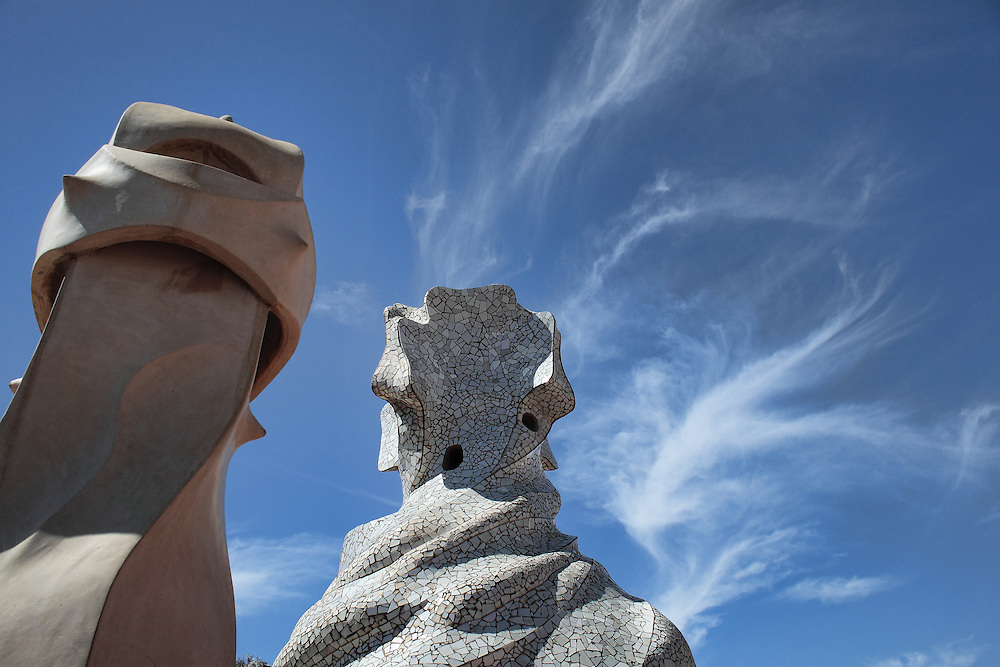The roof of La Pedrera, by Antoni Gaudi.