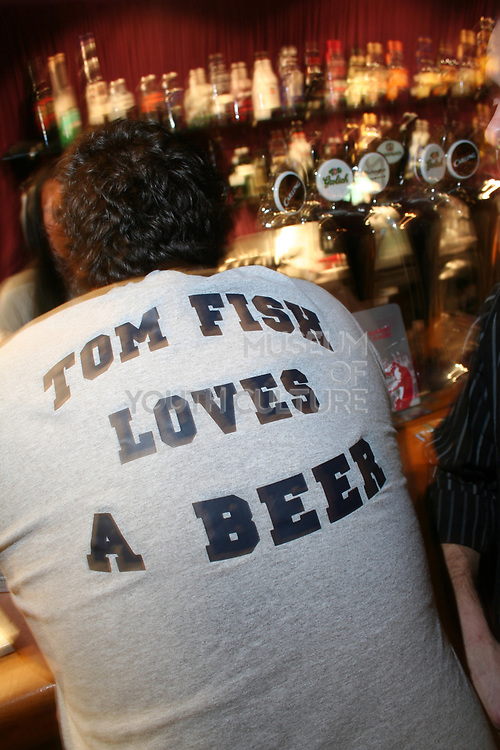 'Tom Fish Loves Beer' t-shirt, Masonic Place, Nottingham.