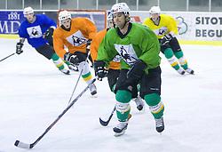 Kevin Mitchell at ice hockey practice of HDD Tilia Olimpija,  on October 16, 2008 in Arena Tivoli, Ljubljana, Slovenia.  (Photo by Vid Ponikvar / Sportal Images)