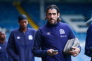 Blackburn Rovers forward Danny Graham (10) arrives at the ground during the EFL Sky Bet Championship match between Leeds United and Blackburn Rovers at Elland Road, Leeds, England on 9 November 2019.