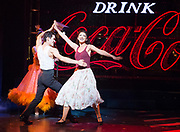 Strictly Ballroom <br /> By Baz Luhrmann <br /> At The Piccadilly Theatre, London, Great Britain <br /> Press photocall <br /> 17th April 2018 <br /> <br /> Jonny Labey as Scott Hastings <br /> Zizi Strallen as Fran <br /> <br /> <br /> And company