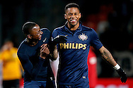 Onderwerp/Subject: Eredivisie<br /> Reklame:  <br /> Club/Team/Country: 1<br /> Seizoen/Season: 2012/2013<br /> FOTO/PHOTO: Jeremain LENS (R) of PSV and Jetro WILLEMS (L) of PSV celebrating after the match ( 1 - 3 ). (Photo by PICS UNITED)<br /> <br /> Trefwoorden/Keywords: <br /> #02 #21 #22 $94 &plusmn;1355239962240<br /> Photo- &amp; Copyrights &copy; PICS UNITED <br /> P.O. Box 7164 - 5605 BE  EINDHOVEN (THE NETHERLANDS) <br /> Phone +31 (0)40 296 28 00 <br /> Fax +31 (0) 40 248 47 43 <br /> http://www.pics-united.com <br /> e-mail : sales@pics-united.com (If you would like to raise any issues regarding any aspects of products / service of PICS UNITED) or <br /> e-mail : sales@pics-united.com   <br /> <br /> ATTENTIE: <br /> Publicatie ook bij aanbieding door derden is slechts toegestaan na verkregen toestemming van Pics United. <br /> VOLLEDIGE NAAMSVERMELDING IS VERPLICHT! (&copy; PICS UNITED/Naam Fotograaf, zie veld 4 van de bestandsinfo 'credits') <br /> ATTENTION:  <br /> &copy; Pics United. Reproduction/publication of this photo by any parties is only permitted after authorisation is sought and obtained from  PICS UNITED- THE NETHERLANDS