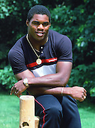 New Jersey Generals running back Herschel Walker (34) poses for a photo after the USFL football season near East Rutherford, N.J. on July 1, 1984. (©Paul Anthony Spinelli)