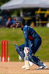 September 22, 2018 - Morrisville, North Carolina, US - Sept. 22, 2018 - Morrisville N.C., USA - Team USA JASKARAN MALHA (4) scores during the ICC World T20 America's ''A'' Qualifier cricket match between USA and Canada. Both teams played to a 140/8 tie with Canada winning the Super Over for the overall win. In addition to USA and Canada, the ICC World T20 America's ''A'' Qualifier also features Belize and Panama in the six-day tournament that ends Sept. 26. (Credit Image: © Timothy L. Hale/ZUMA Wire)
