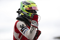 August 18, 2018 - Towcester, United Kingdom - MICK SCHUMACHER of Germany and Prema Theodore Racing celebrates after winning the 2018 FIA Formula 3 European Championship race 2 at Silverstone Circuit in Towcester, United Kingdom. (Credit Image: © James Gasperotti via ZUMA Wire)