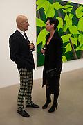 ALEX KATZ; CARO JOST, Alex Katz opening. Timothy Taylor gallery. London. 3 March 2010.