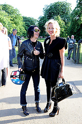 Left to right, artist SUE WEBSTER and AMANDA ELIASCH at a party at the Serpentine Gallery, Kensington Gardens, London to unveil their summer Pavilion designed by Frank Gehry on 20th July 2008.<br /> <br /> NON EXCLUSIVE - WORLD RIGHTS
